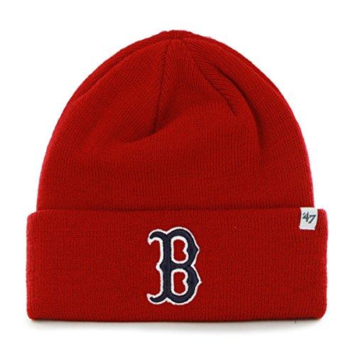 MLB Boston Red Sox Cuffed Knit Hat Beanie-red