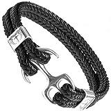 Tom Miller Bracelet Ancre couleur argent Cuir de haute qualité Cadeau pour Hommes (19)