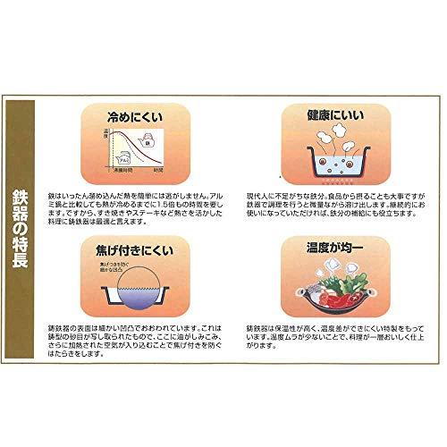 中部トキワステーキ皿大22cm柄付浅型日本製PTK24001