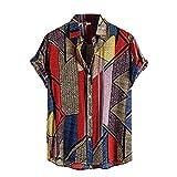 JJZSL Camisas De Verano Para Hombres Cardigan Ropa De Manga Corta De Playa Hawaiana Camisa De La Flor De La Playa Hombres Turtleneck (Color : A, Size : XXXL code)