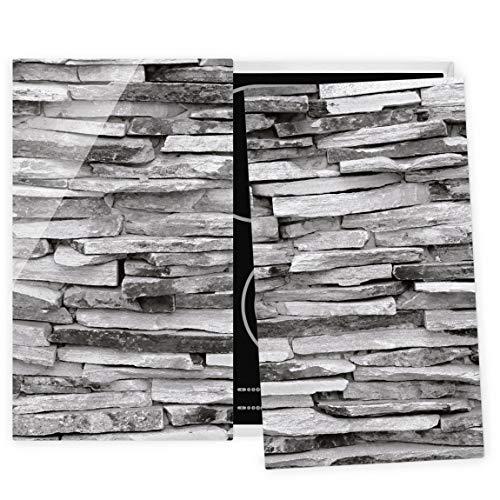 Bilderwelten Couvre Plaque de Cuisson à Induction vitrocéramique - Arizona Stonewall 52x60cm