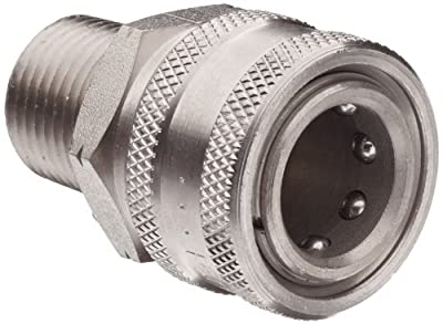 Dixon STMC Series Stainless Steel 303 Hydraulic Quick-Connect Fitting, Coupling x Straight