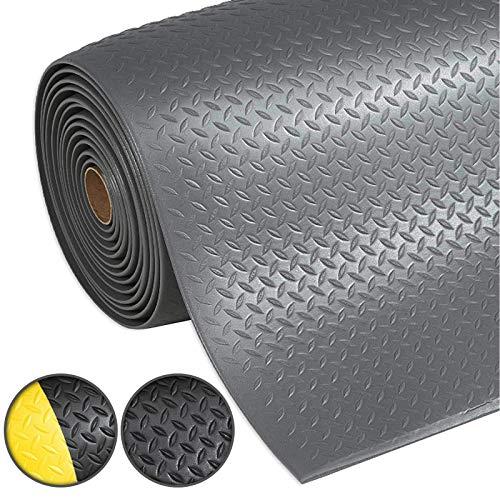 Anti-Ermüdungsmatte Dyna-Protect Diamond   Arbeitsplatzmatte   Diamantstruktur   Grau   90x150 cm