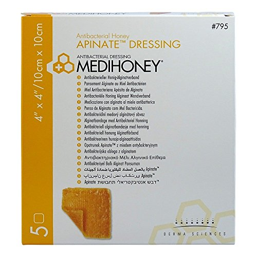 MEDIHONEY Apinate Alginatverband 10x10 cm 5 St Verband 5 St Verband