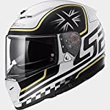 LS2 FF390 DVS Casco Integrale Moto Scooter Bluetooth Pronto Motorino Caschi Integrali Classico Bianco/Nero L(59-60cm)