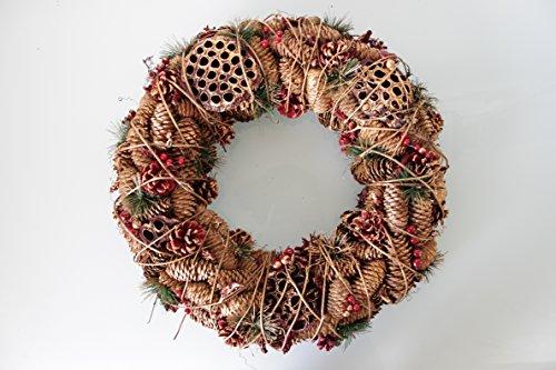 Christmas @ Thumpers Natale Rame Corona con pigne–Grande 45cm