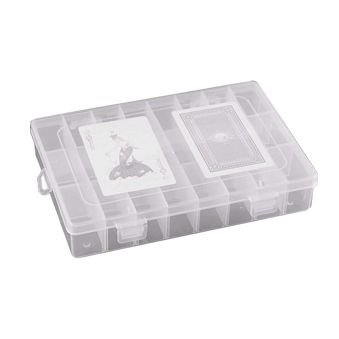プレート呼び起こす行くcandyfouse収納ボックス 透明 プラスチック コンパートメント 調節可能 15/24格子