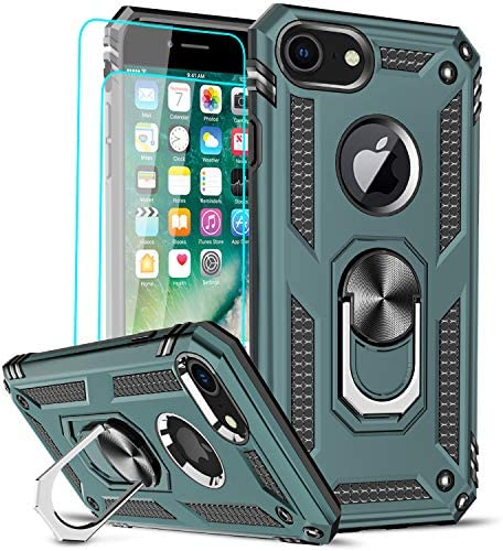 LeYi Compatible for iPhone 8 Case iPhone 7 Case iPhone 6s 6 Case with 2 Pack Tempered Glass product image