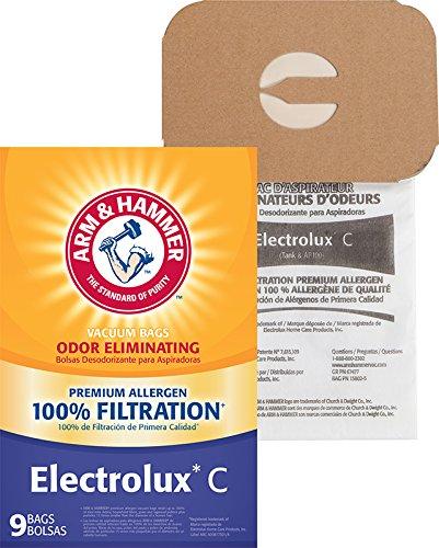 Brazo y Martillo Electrolux Estilo C Premium Odor-eliminating de filtración Bolsas de vacío, Pack de 9