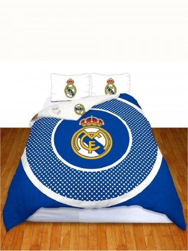 Juego de funda nórdica para cama doble, diseño del Real Madrid FC Bullseye