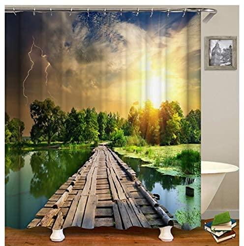 Duschvorhang Ozeanblaue Schildkröte Duschvorhang Für Fenster Shower Curtains for Bathroom Decor 180*180Cm Top Qualität Wasserdicht, Anti-Schimmel-Effekt 3D Digitaldruck Inkl. 12 Duschvorhangringe