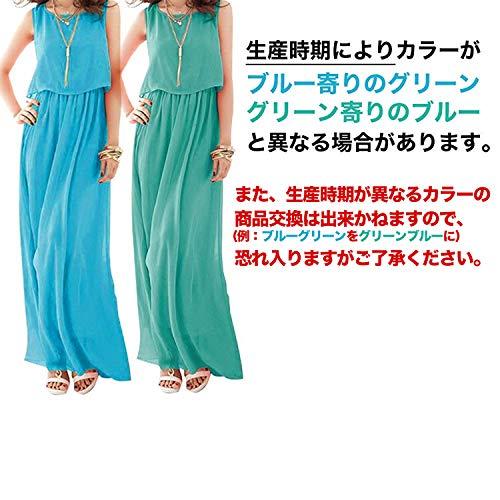 『[ニーマンバイ] レディース ロング ふんわり シフォン マキシ丈 ワンピース S~3XL』の3枚目の画像