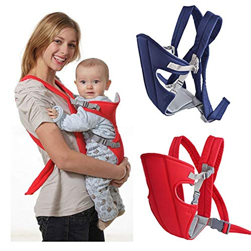 Chinmay Kids 4-in-1 Adjustable Baby Carrier Cum Kangaroo Bag/Honeycomb Texture Baby Carry Sling/Back/Front Carrier for Baby with Safety Belt and Buckle Straps (Blue)