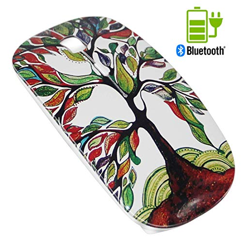 Quiet Rechargeable Mouse White - Azmall Wireless Mouse Portable Optical Mouse Noiseless Mice for MacBook,Notebook,Laptop,PC,Tablet - Lucky Tree