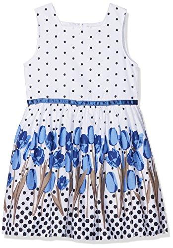 Happy Girls Mädchen Kleid mit Print Blau (Royalblau 69) 128