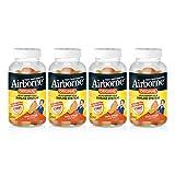 Vitamin C 750mg (per serving) - Airborne Zesty Orange Gummies (63 count in a bottle), Gluten-Free Immune Support Supplement With Vitamins C E, Selenium (Pack of 4)