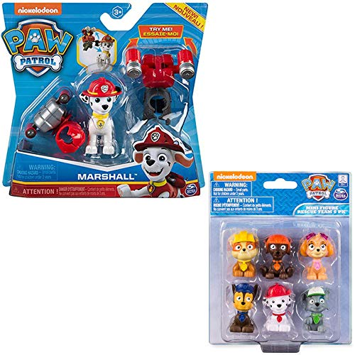 Paw Patrol Toys | Mighty Pups | 2-Pack | Marshall Action Figures with with 2 Jetpacks Cake Topper | for Kids Girls and Boys Age 3, Age 4, Age 5, and Up…