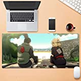 GUANGZHENG Patrón de la Serie Naruto/Nara Shikamaru y Temari/Anime Juego Alfombrilla de ratón/Caucho Material Antideslizante for Mejorar la precisión de Escritorio Mat/E-Sports, Oficina, hogar