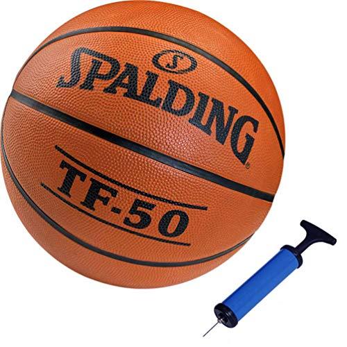 Spalding Kinder Ball Outdoor Basketball Größe 5 + Ballpumpe