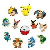 Set of 12Pcs Pikachu Shoe Charms, Pókemon Satoshi Shoe...