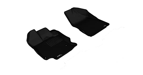 3D MAXpider Front Row Custom Fit All-Weather Floor Mat for Select Toyota Venza Models L1TY13311509 Kagu Rubber Black