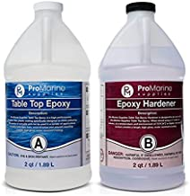 Clear Table Top Epoxy Resin That Self Levels, This is a 1 Gallon High Gloss (0.5 Gallon Resin + 0.5 Gallon Hardener) Kit That's UV Resistant – It's DIYER & Pro Preferred with Minimal Bubbles