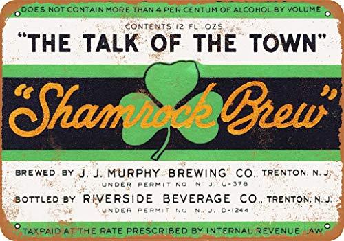 Targa in metallo con scritta 'Murphy Shamrock Brew Birra', 1933, 20 x 30 cm