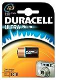 Duracell DL123AB2PK Lithium Photo Batteries, 3V, 2/PK, Black