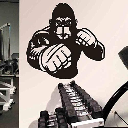 Boxeo Deportes Orangután Músculo Guante de boxeador Gratis Sparring Etiqueta de la pared Vinilo Calcomanía del coche Dormitorio Sala de entrenamiento Bodybuilding GYM Club Decoración para el hoga
