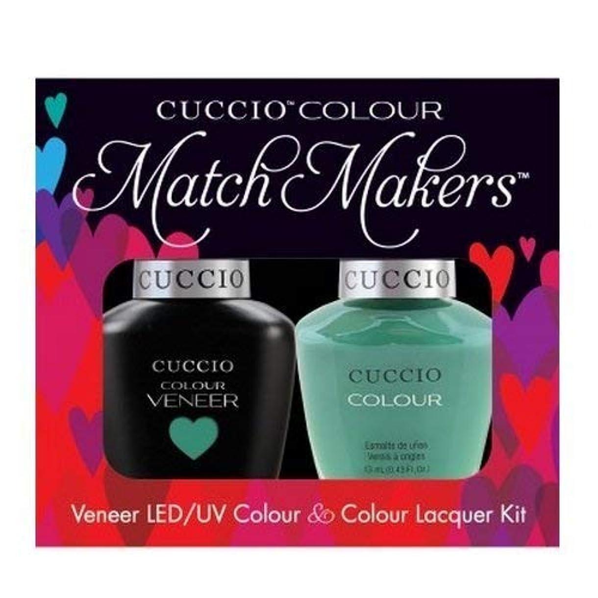 死傷者独特の落胆するCuccio MatchMakers Veneer & Lacquer - Jakarta Jade - 0.43oz / 13ml Each