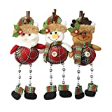 UXZDX CUJUX 3PS Christmas Ornaments Gift Santa Claus Snowman Tree Toy Doll Hang Decorations Christmas Decorations for Home New Year