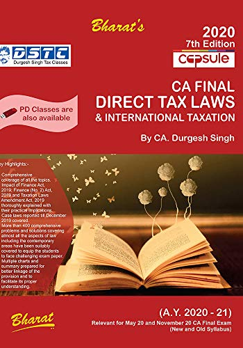 Capsule Studies on Direct Tax Laws & International Taxation (for A.Y. 2020-21)