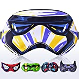 Sleep Mask Stormtrooper Starwars Heroes for Children Kids Boys Men- Sleeping mask 100% Soft Cotton - Night Eye Cover Blindfold (Stormtrooper White, Plastic Pack)