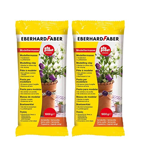 Eberhard Faber 570183 - Modelliermasse EFAPlast Classic, 1 kg, terrakotta (Terrakotta, 2)