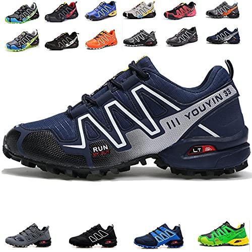 MIAOML Zapatillas De Senderismo Hombre Mujer Ligeras Transpirable Zapatillas De Trekking Antideslizantes Zapatos De Montaña,E-46 EU