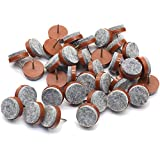 40pcs Round Heavy Duty Nail-on Anti-Sliding Felt Pad for Furniture Chair Table Leg Feet Floor Protectors (Brown, Pad Diameter 20mm)