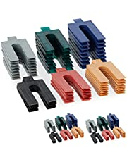 Relaxdays Afstandhouders kunststof, 144-delige set, beglazingsblokken in 6 maten, afstandsplaatjes 1-6 mm verschillend. kleuren