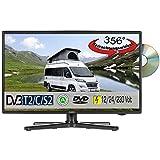 Reflexion LDDW200 LED HD (TV 20 Zoll) DVB-S2/C/T2 DVD (12/24/230 Volt) Fernseher Camping Wohnmobil (KFZ 12 Volt)