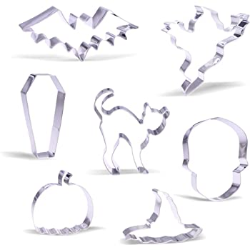 Large Halloween Cookie Cutter Set - 7 Piece - Stainless Steel