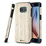 Galaxy S7 Case, B BELK [Air to Beat] Non Slip [Slim Matte] Wood Tactile Grip Rubber Bumper [Ultra Light] Soft TPU Back Cover, Premium Smooth Wooden Shell for Galaxy S7 (S7 Edge - Birch)