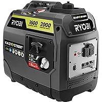 Ryobi 2000-Watt Gray Gasoline Powered Digital Inverter Generator (RYI2000GRA)