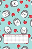 Cuaderno Cuadriculado A5 6mm: cuaderno cuadros grandes - 50 hojas - 100 páginas - cuaderno cuadriculado sin espiral - cuaderno cuadriculado pequeño - ... - libreta infantil a5 - animales del bosque