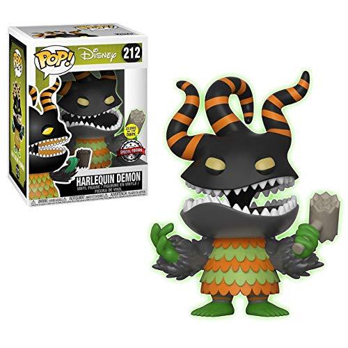 Funko POP: Disney: Pesadilla antes de Navidad: Harlequin Demon Brilla en la oscuridad Exclusivo
