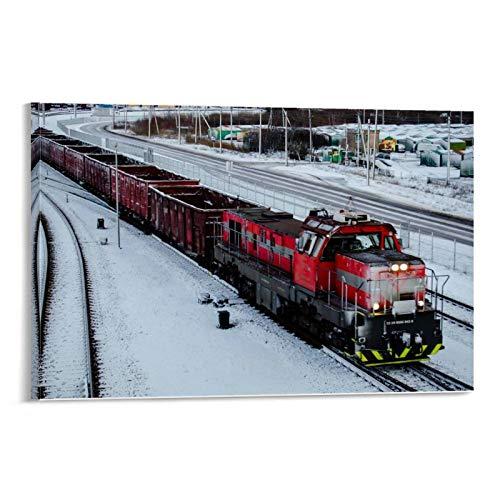 ZXCQWE Cargo Train Leinwand Kunst Poster und Wandkunst Bilddruck Moderne Familienzimmer Dekor Poster 16x24inch(40x60cm)
