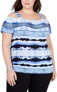 Inc International Concepts I.n.c. Plus Size Cold-Shoulder Tie-Dye Top Ombre Dream 0X