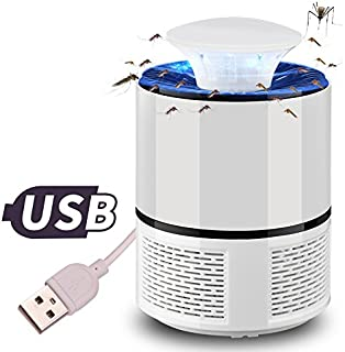 Mosquito Killer Lamp, ieGeek USB Powered Insect Killer with 360° LED Trap Lamp, Chemical-Free, Electronic Mosquito Repelle...