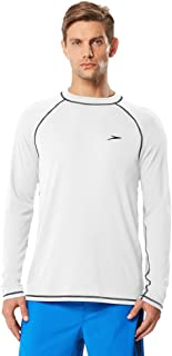 Speedo Men's Uv Swim Shirt Long Sleeve Loose Fit Easy Tee