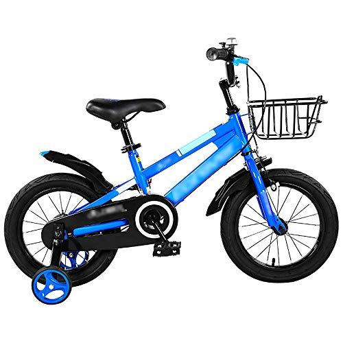 Byx Freestyle Kinderfiets voor jongens kinderfiets voor kinderen 2-11 jaar met stabilisatoren en mand Kinderfiets