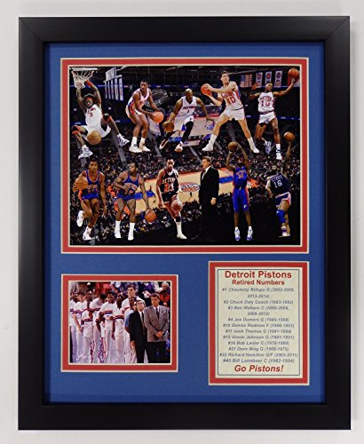 Detroit Pistons NBA Framed 8x10 Photograph Team Logo and Basketball