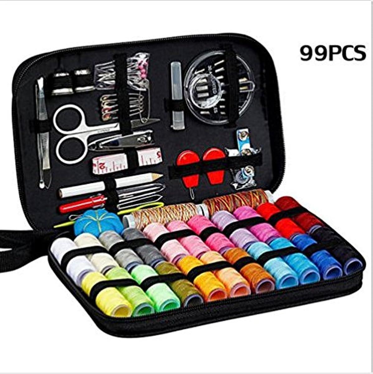 99pcs Sewing Kit Travel Bag Needles Thread Scissor Tape Accessories Craft Repair (US Stock)